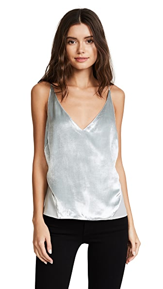 J Brand Lucy Cami In Silver Spoon