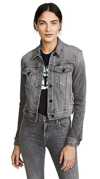 J Brand Harlow Shrunken Jacket In Earl Grey