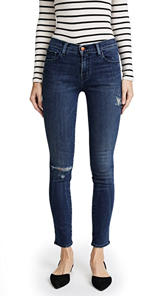 J Brand Skinny Jeans In Swift Destruct