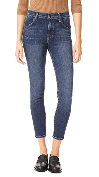 J Brand High Rise Alana Crop Jeans In Mesmeric