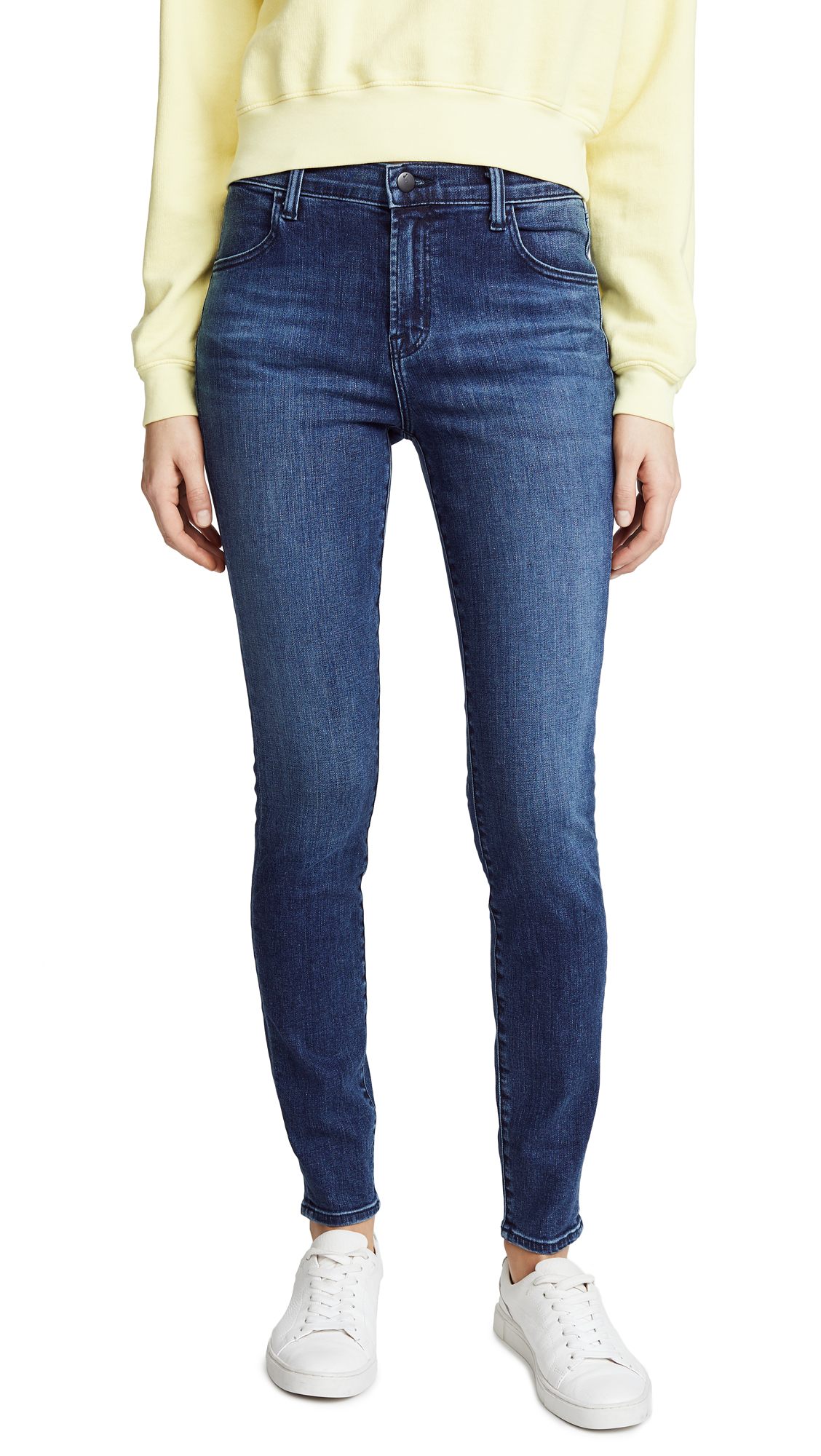 J Brand Maria High Rise Skinny Jeans In Bella Donna