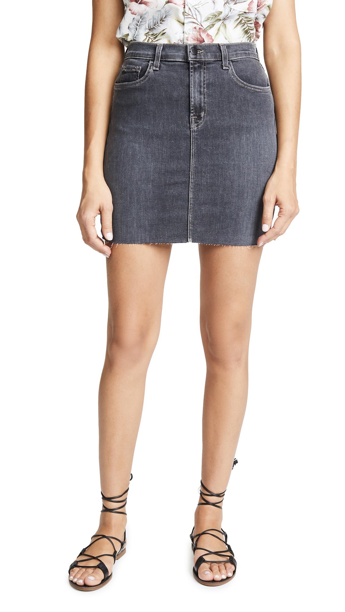 J Brand Lyla Miniskirt In Obscura
