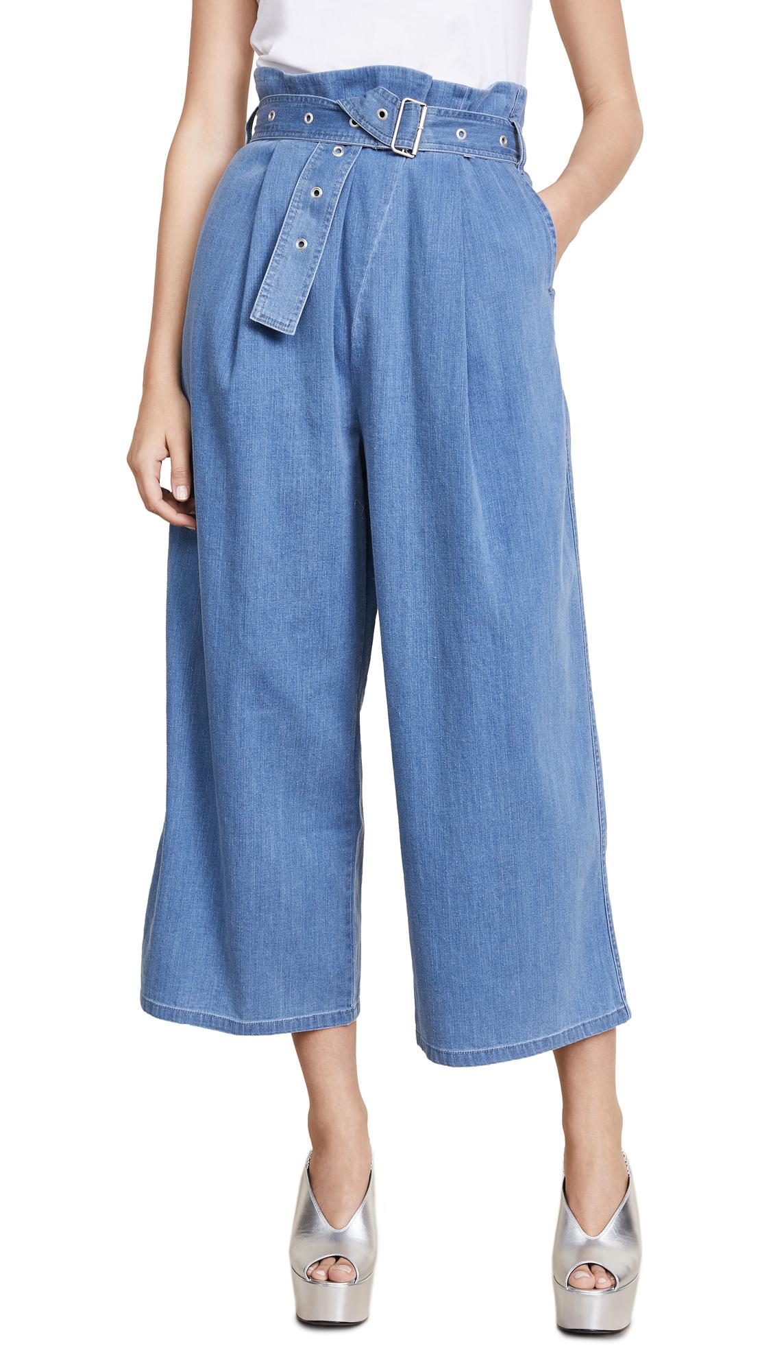 J Brand Via Pleat Front Pants In Heavenly Blue