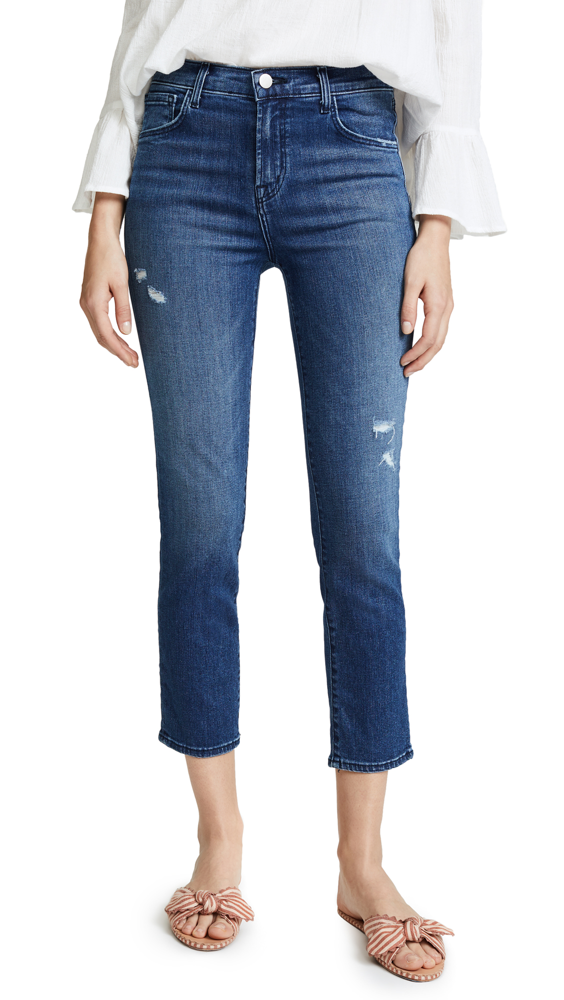 J Brand Ruby Crop Jeans In Mystic