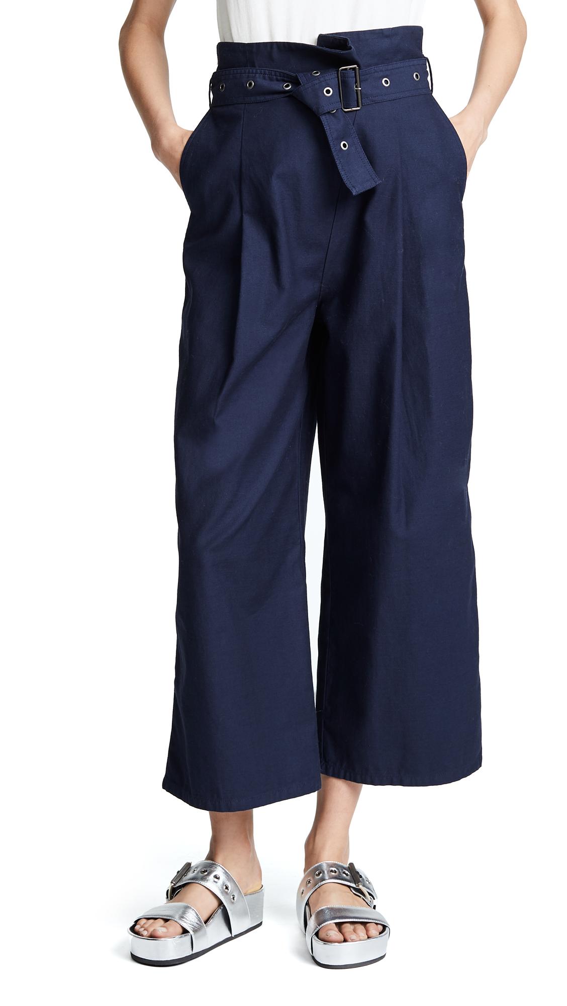 J Brand Via Pleat Front Pants - Province Blue