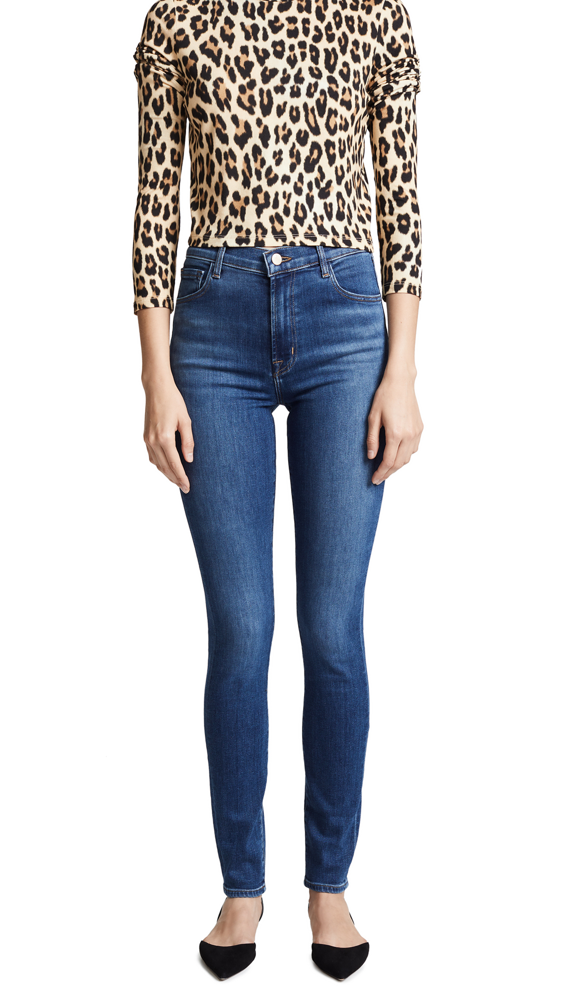 J Brand Carolina Super High Rise Skinny Jeans In Hewes