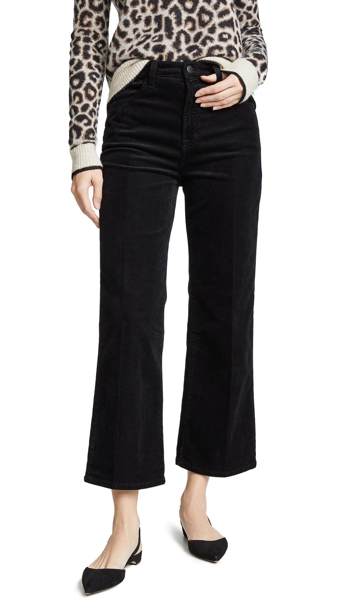 J Brand Joan High Rise Crop Pants In Black