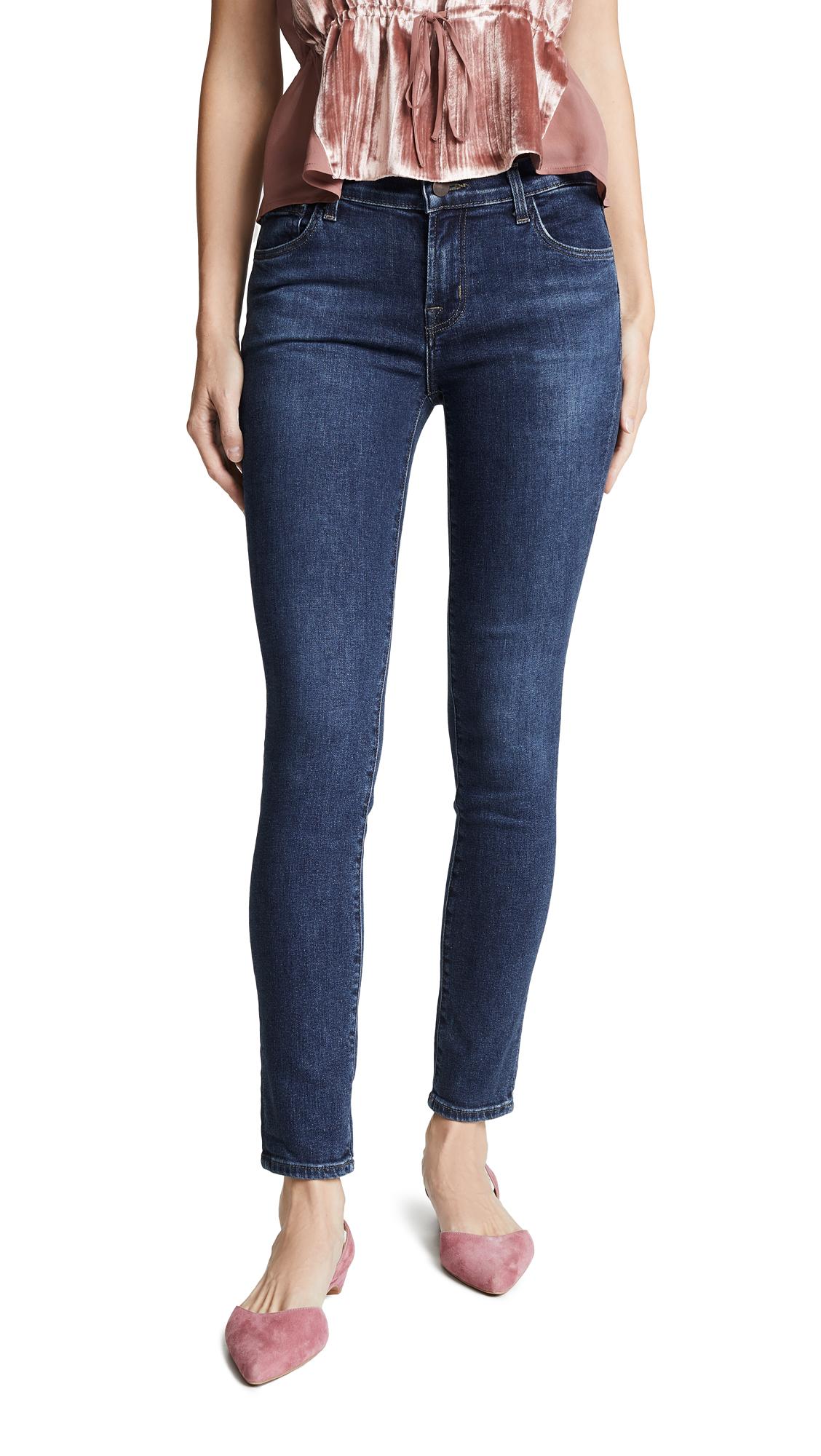 J Brand 811 Mid Rise Skinny Jeans In Moral
