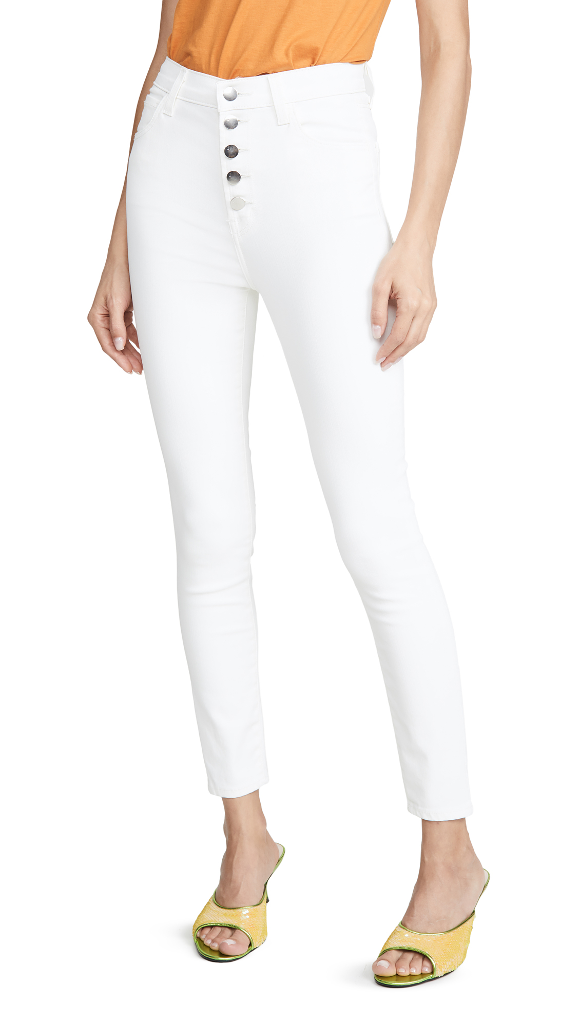 Buy J Brand online - photo of J Brand Lillie High Rise Crop Skinny Jeans