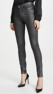 J Brand Maria Coated High Rise Skinny