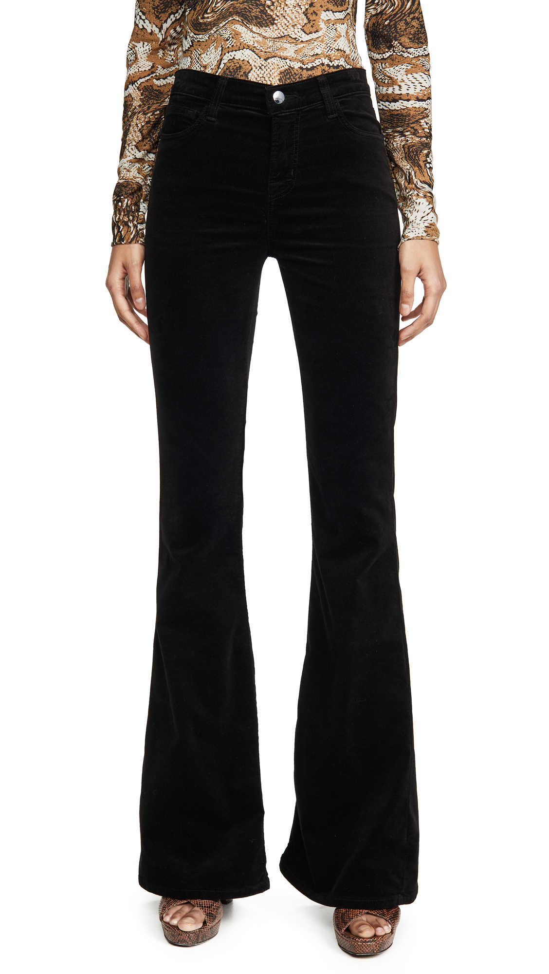Buy J Brand online - photo of J Brand Valentina Velvet High Rise Flare Pants
