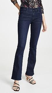J Brand Sallie Mid Rise Boot Cut Jeans
