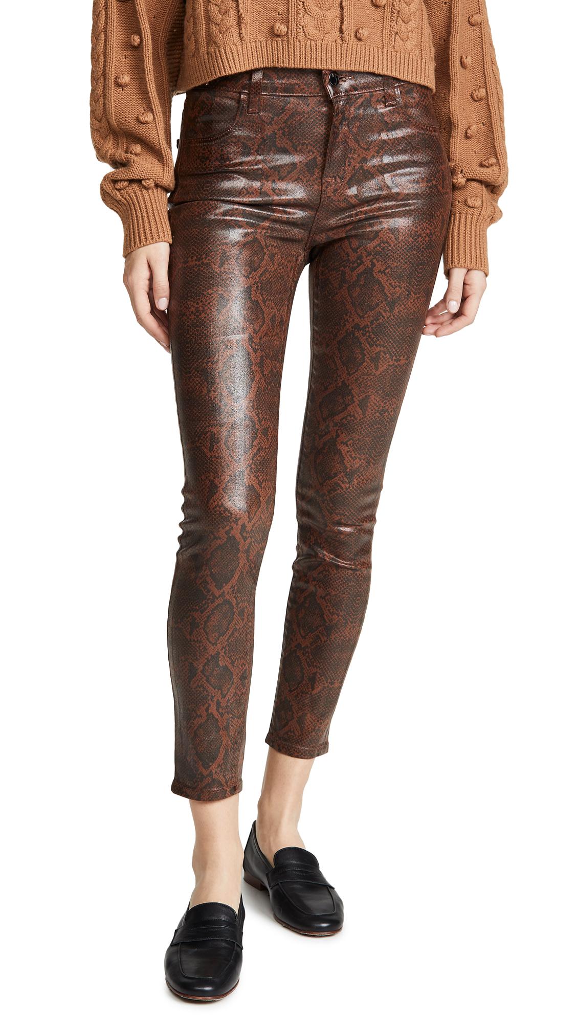 Buy J Brand online - photo of J Brand Alana High Rise Coated Crop Skinny Jeans