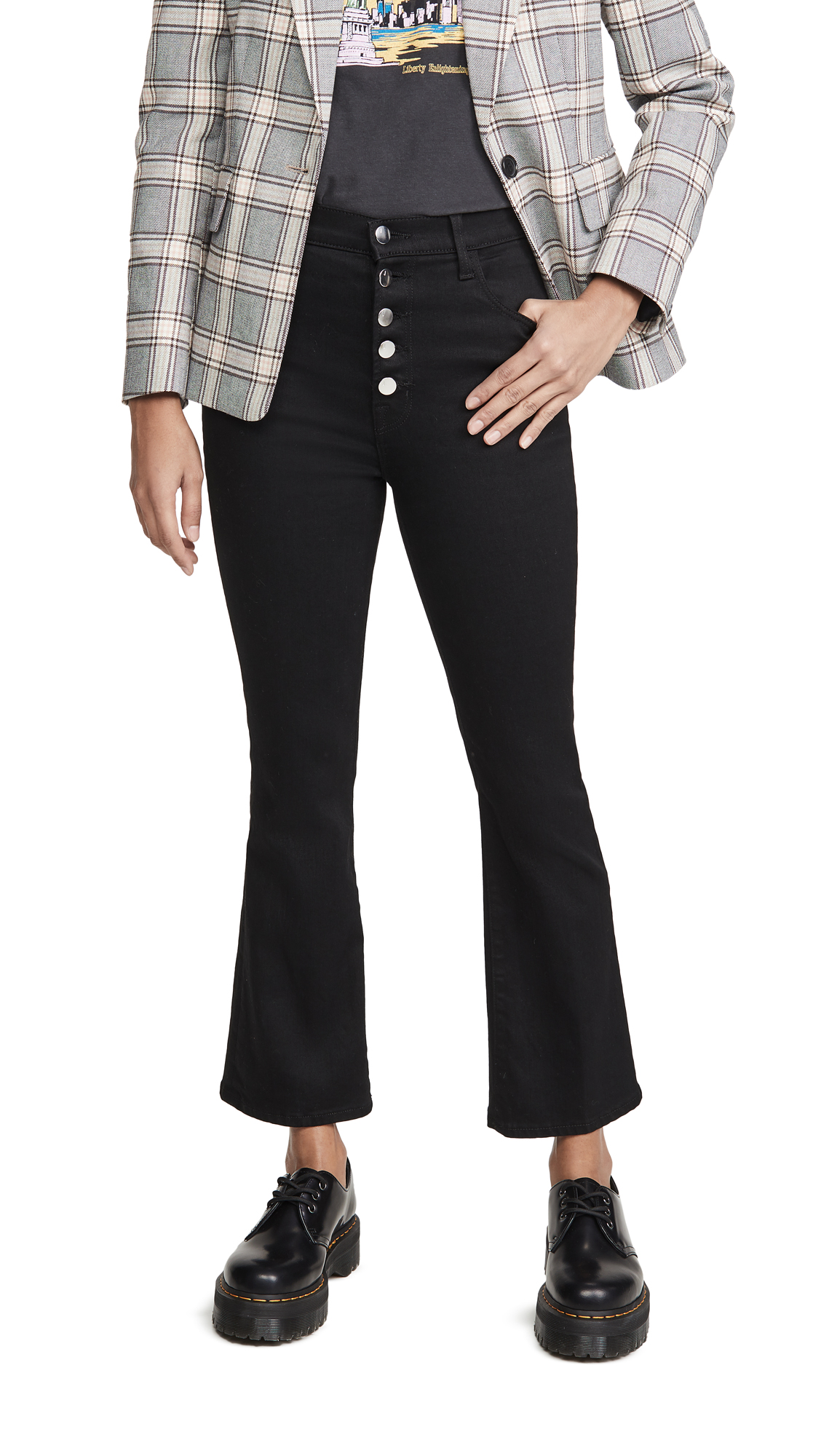 Buy J Brand online - photo of J Brand Lillie High Rise Crop Flare Jeans