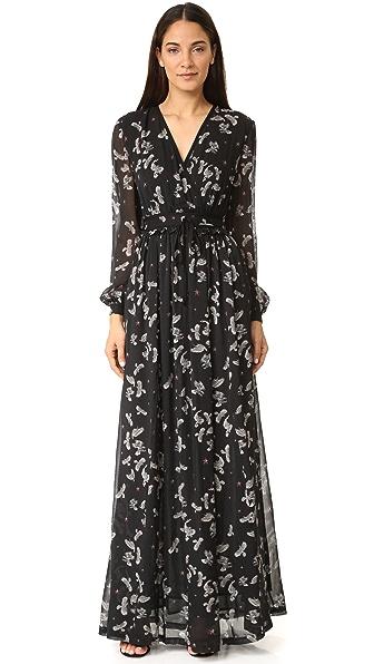 Just Cavalli Combat Eagles Maxi Dress - Black Variant