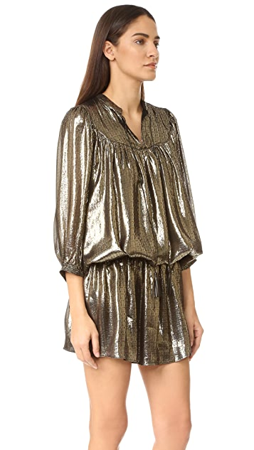 Just Cavalli Metallic Drop Waist Dress