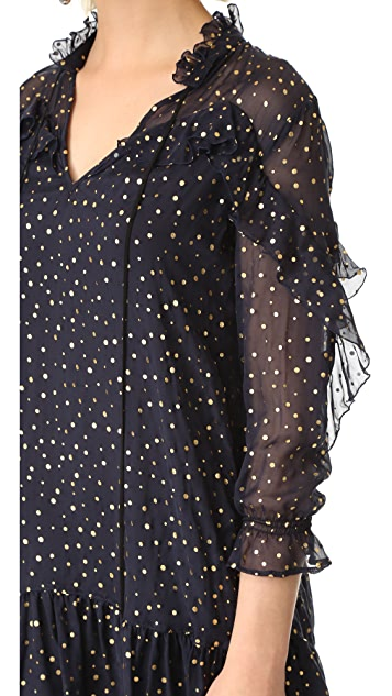 Just Cavalli Flutter Sleeve Dress