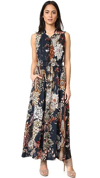Just Cavalli Desert Garden Lace Up Maxi Dress