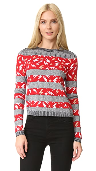 Just Cavalli Lightning Stripe Sweater