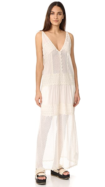 Just Cavalli Dotted Lace Dress - Cream