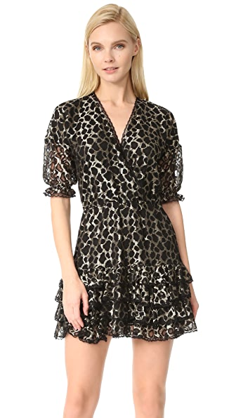 Just Cavalli Leopard Ruffle Dress - Gold