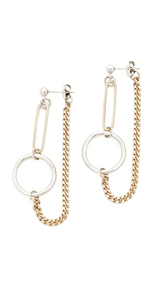 Justine Clenquet Lita Earrings In Gold/Silver
