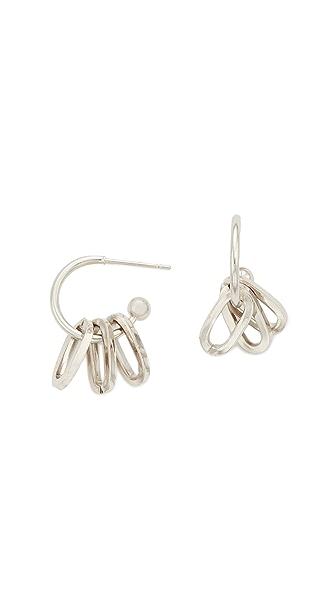 Justine Clenquet Debbie Earrings In Silver