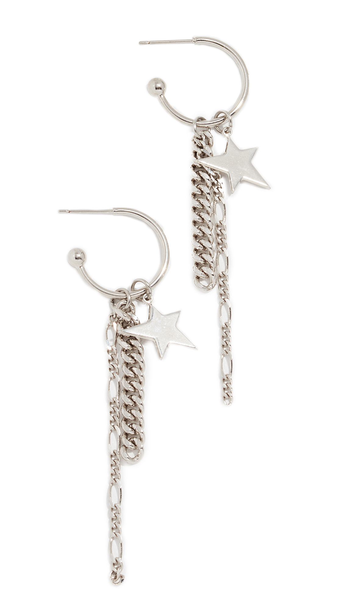 Justine Clenquet Mandy Earrings In Silver