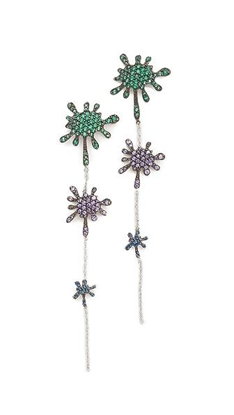 Joanna Laura Constantine Splatter Linear Drop Earrings