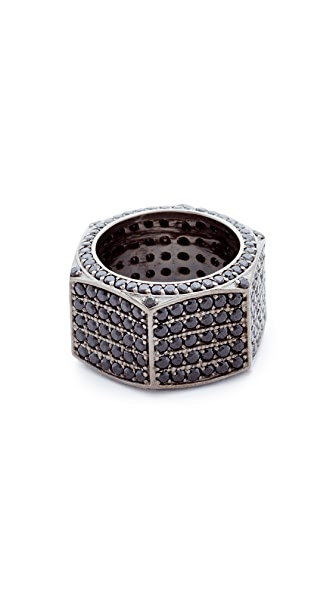 Joanna Laura Constantine Large Nut Ring - Black Rhodium