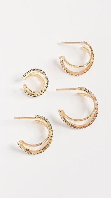 Joanna Laura Constantine Crisscross Earring Set