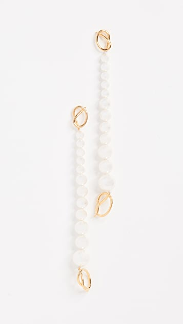 Joanna Laura Constantine Why Knot Swarovski Earrings