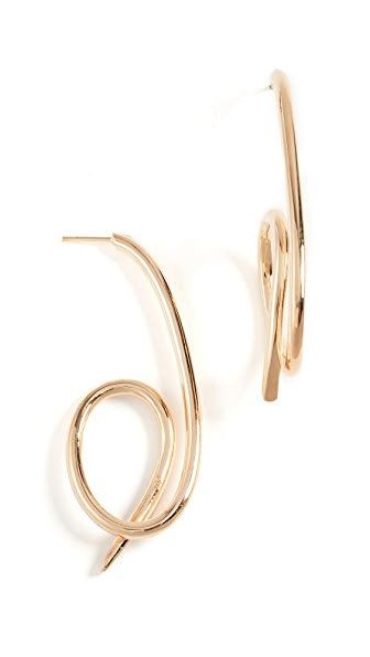 Joanna Laura Constantine Knot Earrings In Gold