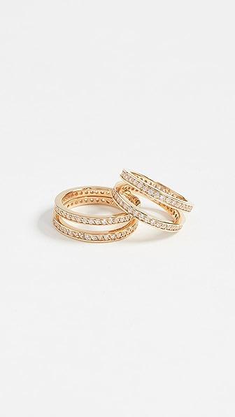 Joanna Laura Constantine Crisscross Ring Set