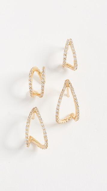 Joanna Laura Constantine Crisscross Hoop Earring Set