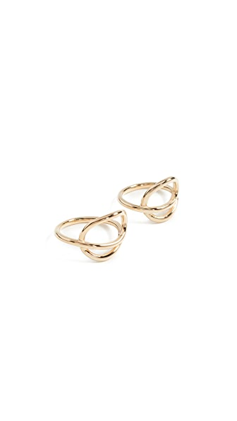 Joanna Laura Constantine Knot Ring Set In Gold