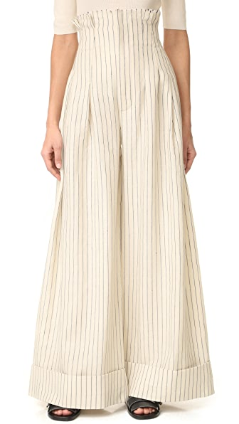 Jacquemus High Waisted Wide Leg Pants