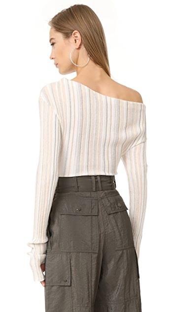Jacquemus Ribbed Long Sleeve Sweater