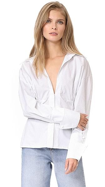 Jacquemus Paula Shirt - White/Black