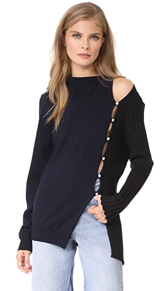 Jacquemus Split Sweater - Black/Navy