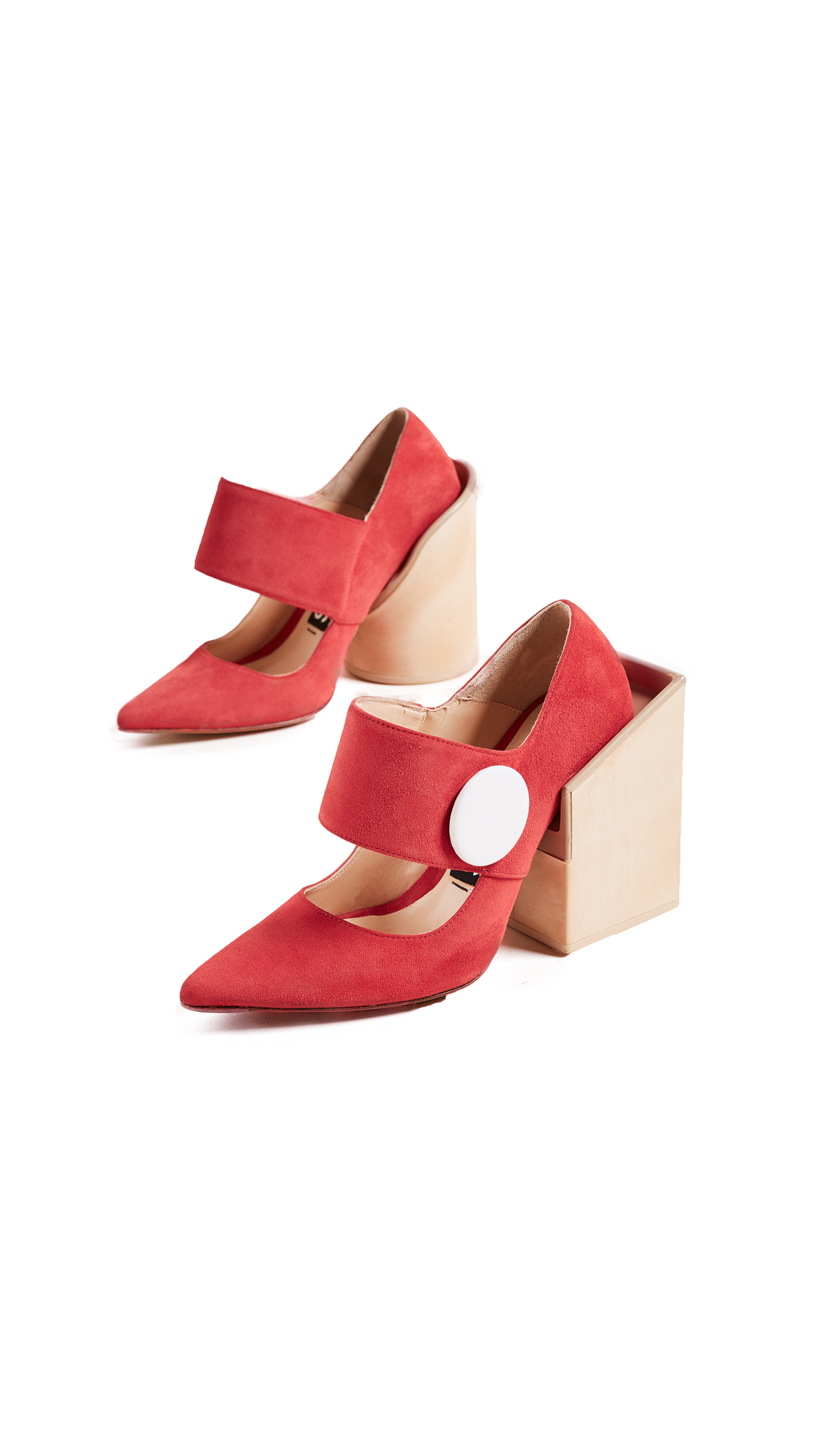 Jacquemus Large Button Pumps - Red