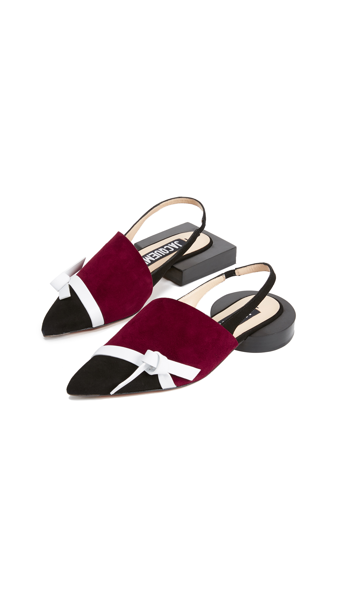 Jacquemus Les Espagne Sandals - Black/Burgundy/White