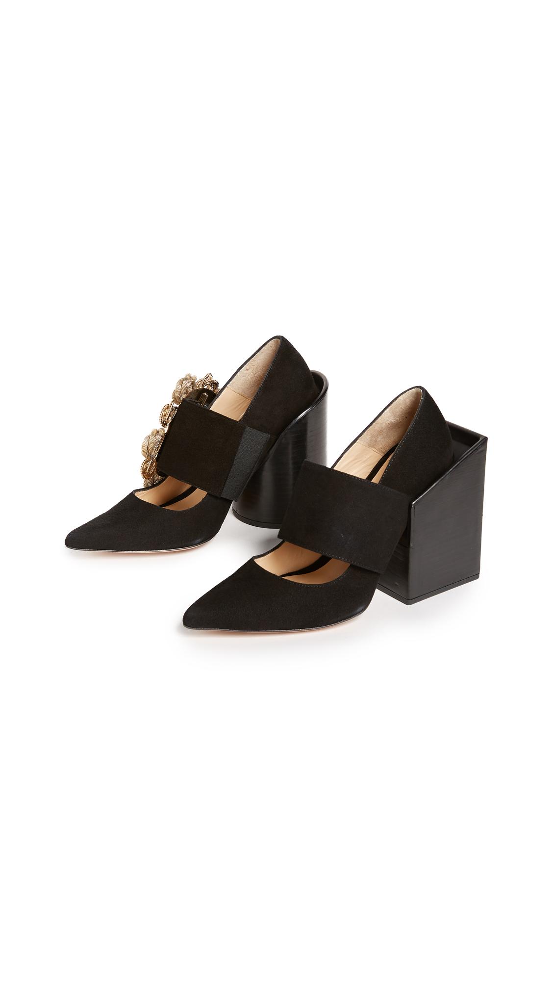 Jacquemus Les Chaussures Boucle Pumps - Black/Black