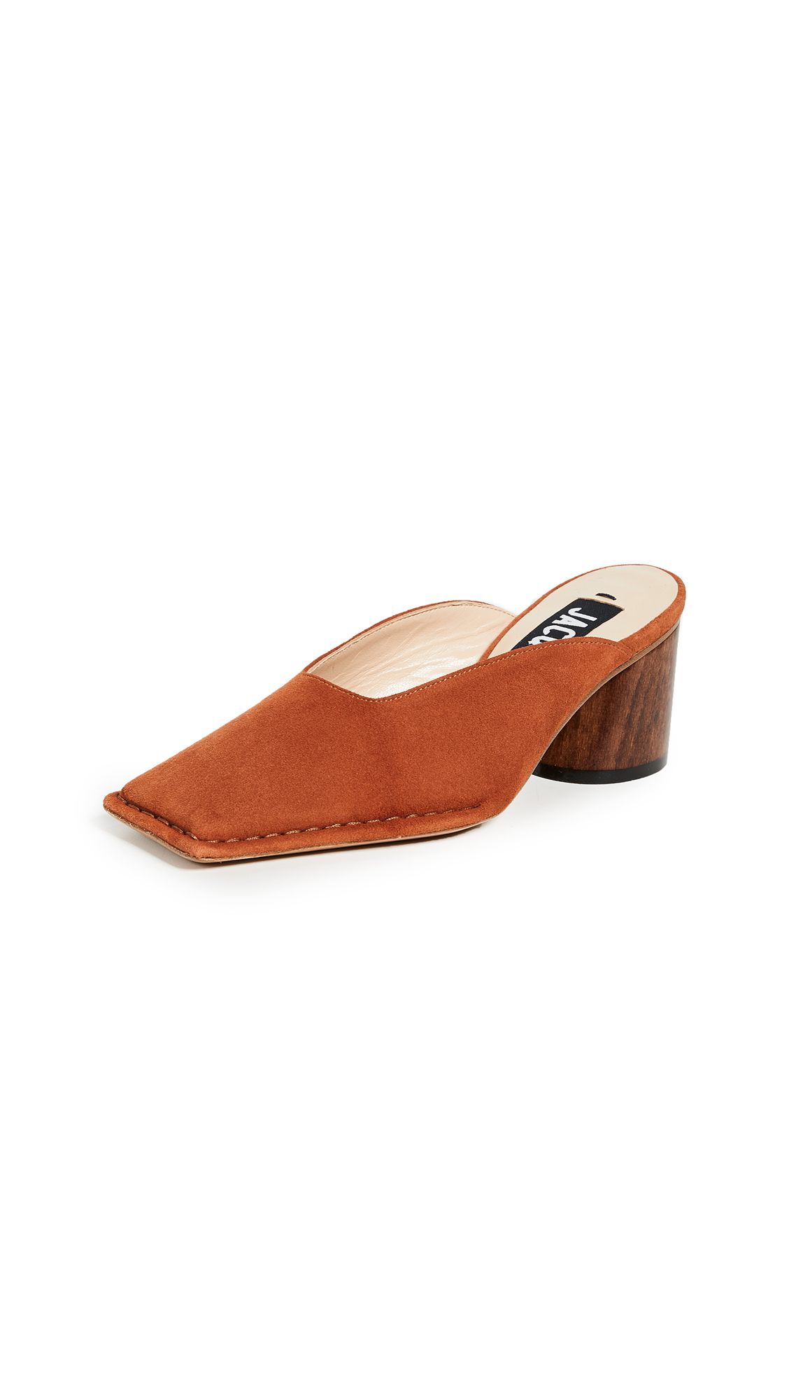 Les Mules Sabah Leather Mules in Brown