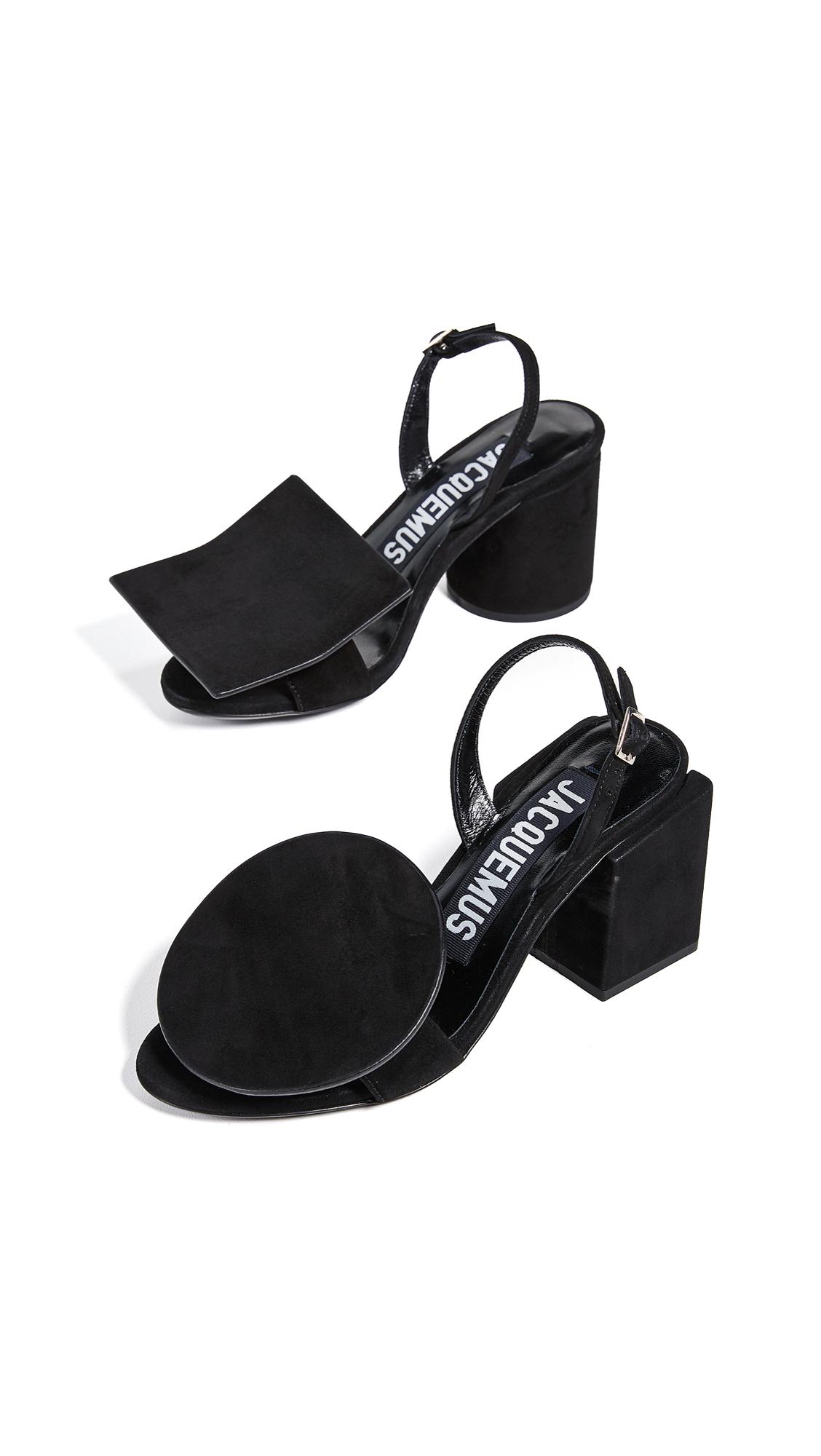 Jacquemus Les Rond Carre Sandals - Black