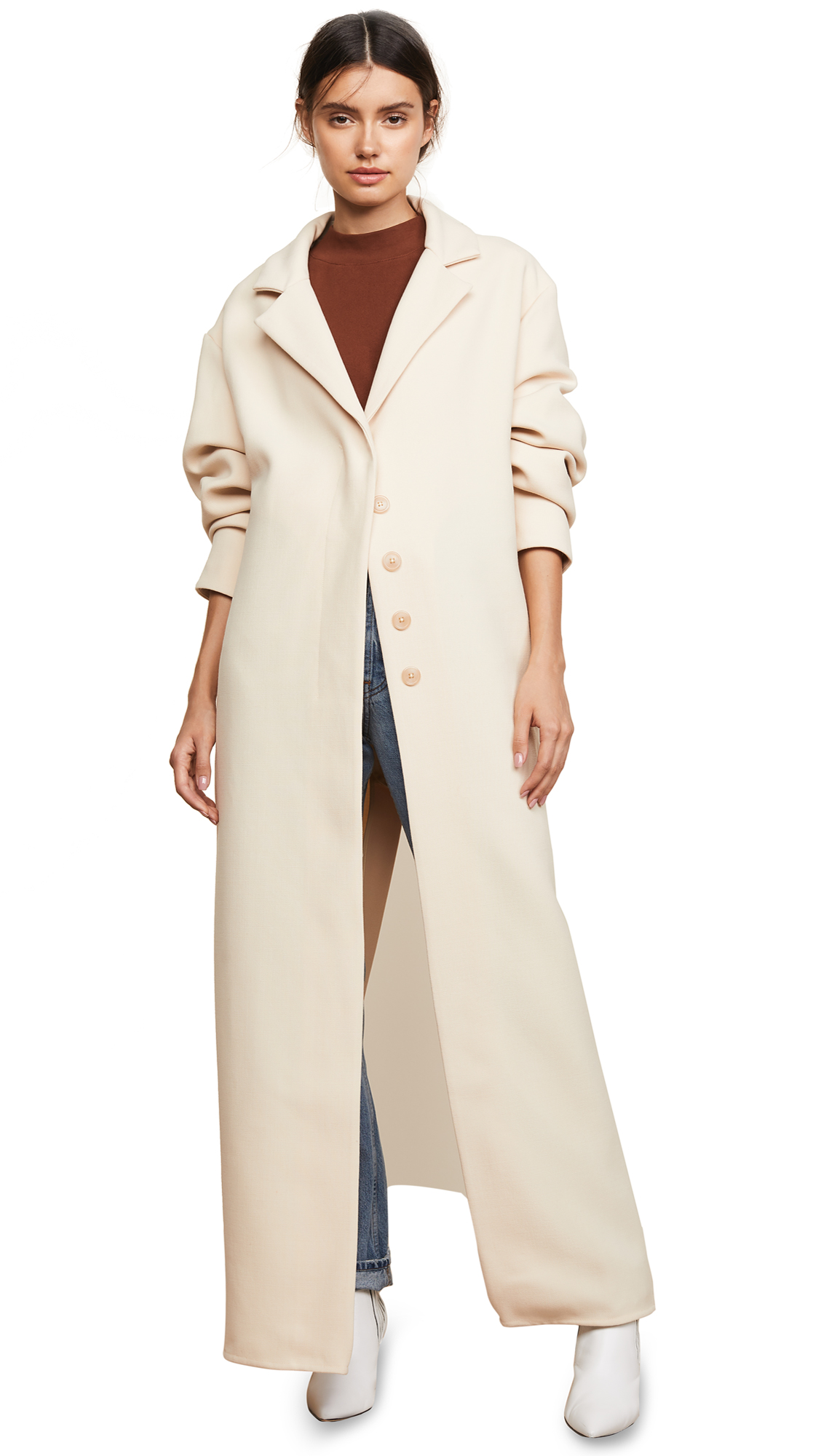 Jacquemus Le Manteau Coat In Beige