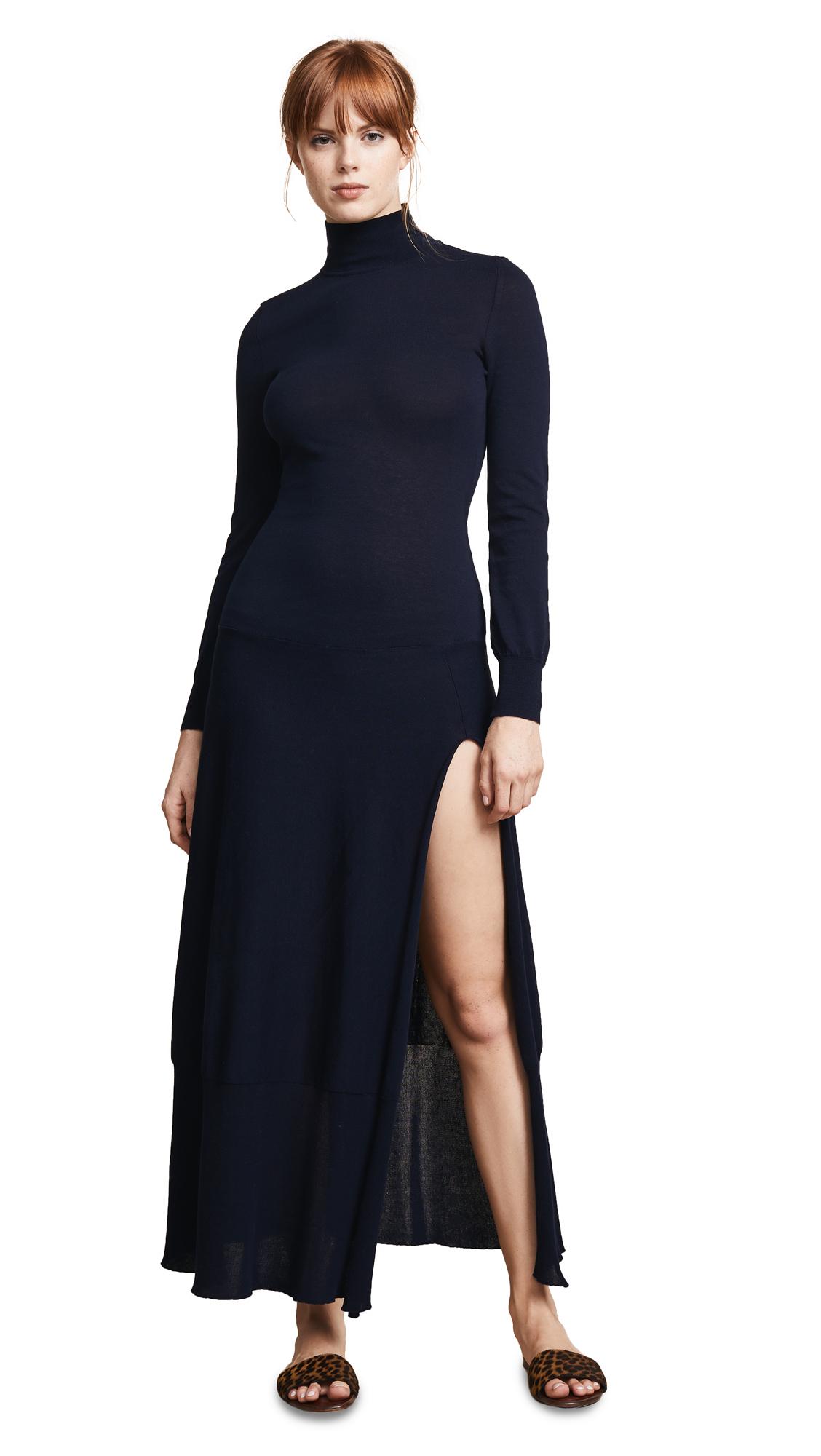 La Robe Baya Stretch-Cotton Dress, Dark Navy