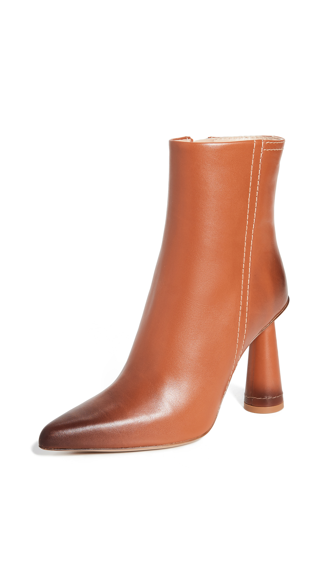 Jacquemus Les Bottes Toula Leather Ankle Boots In Camel