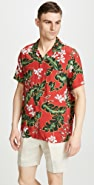 J. Crew Short Sleeve Printed Camp Collar Shirt