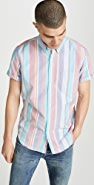 J. Crew Short Sleeve Pima Oxford Striped Shirt